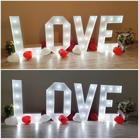 Świecący napis LOVE led promocja ostatnie terminy w 2019