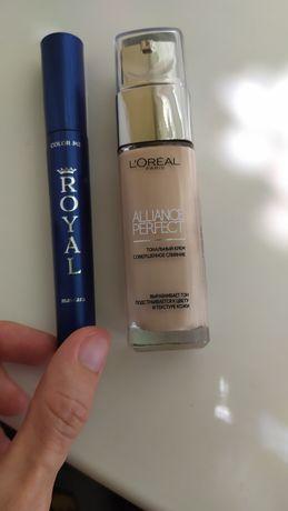 Тональный крем L'Oréal тушь Color me