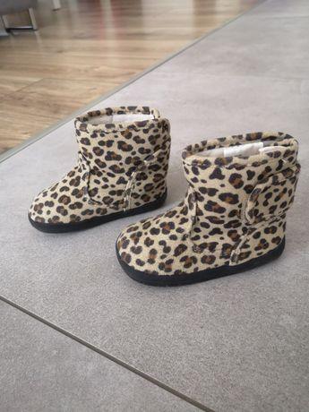 Kozaki kozaczki hm zara półbuty jesień zima buty panterka 20 21 13 cm