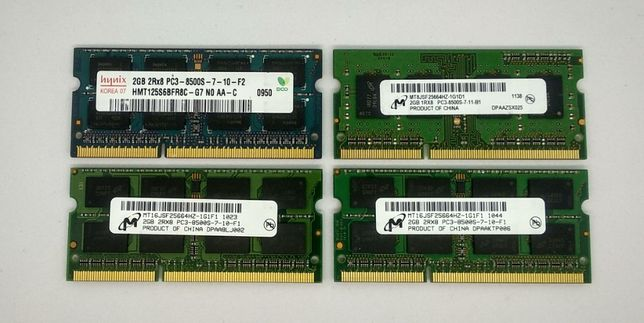Оперативная память для ноутбука DDR3 2GB 1066 MHz