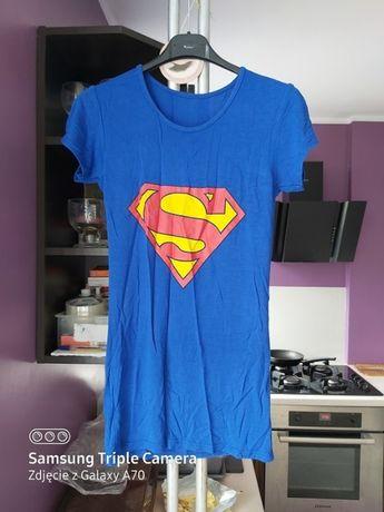 Niebieska koszulka Superman bluzka t-shirt roz S/M rozciągliwa