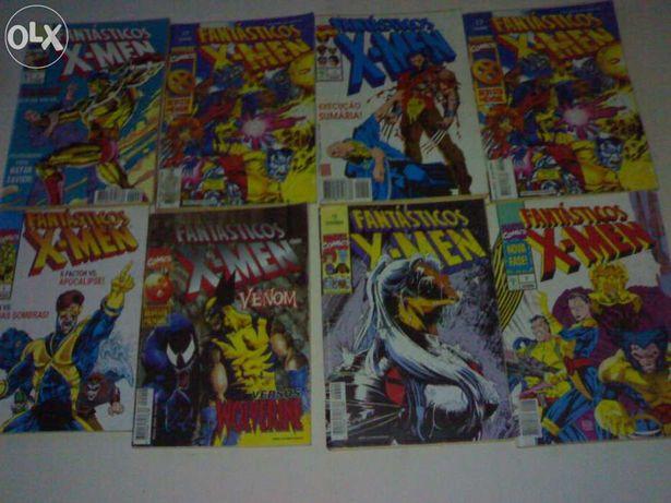 """coleção da Abril Control jornal """"fantasticos x-men"""" (7 por 7)"""