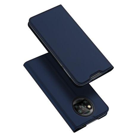 Capa Livro Horizontal Dux Ducis Skin Pro Poco X3 Nfc - Azul