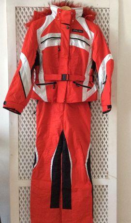 женский лыжный костюм Rex- Tonc красного цвета