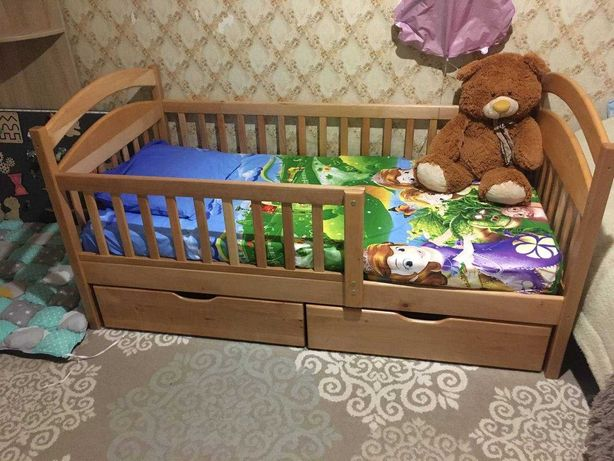 Кровать детская Карина Люкс 80х160, Матрас в комплекте - Беспружинный!