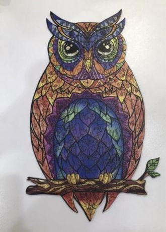 Пазл деревянный сова wood story