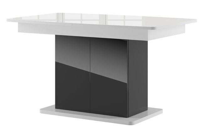 Stół Star 03 Czarny połysk/Biał 140 - 210 cm