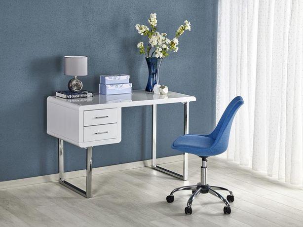 B-30 – biurko białe połysk chrom - biurko glamour - transport gratis !