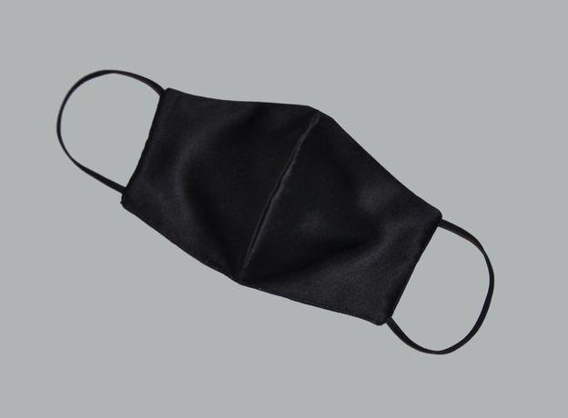 Черная шелковая маска, шелковая маска