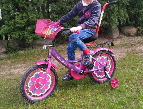 Sprzedam nowy rower rowerek dla dziewczynki rączka w zestawie