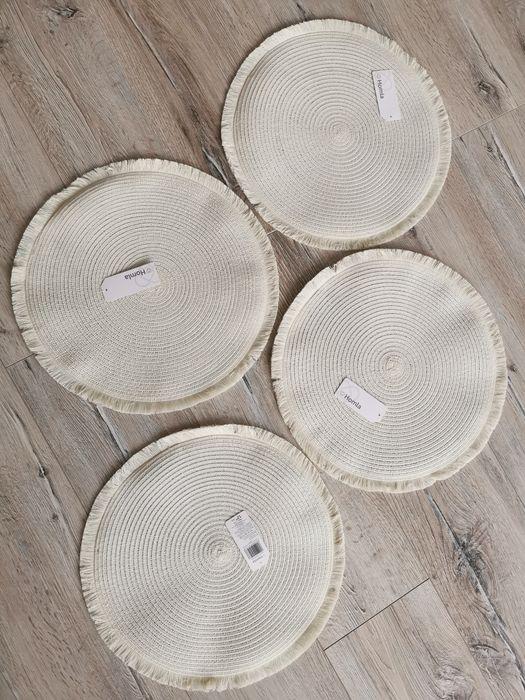 Okrągłe Podkładki do jadalni ecru Homla nowe 4szt Wadowice - image 1
