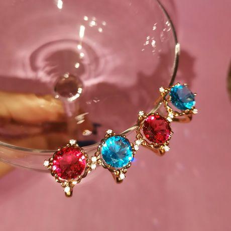 Сережки кольца позолота