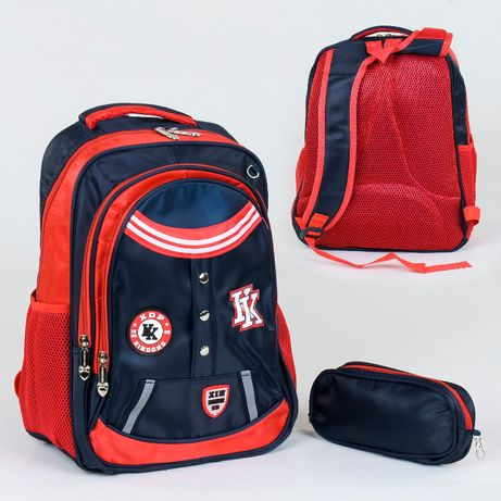 Рюкзак школьный 1 отделение, 4 кармана, мягкая спинка, пенал