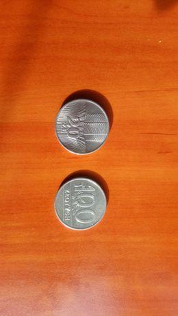 Stara moneta 20zł wieżowiec i Kłosy 1974 i 100zł 1990r
