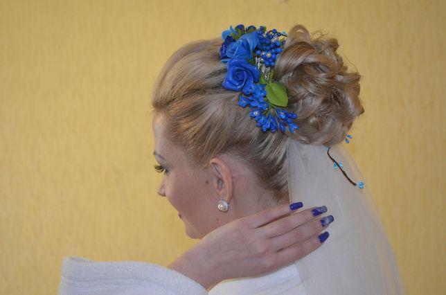 Свадебное украшение для волос ручной работы + подарок!!!