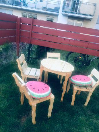 Stolik i 4 krzesła, meble ogrodowe.