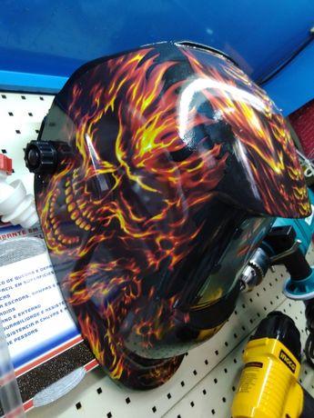 Mascara/capacete de soldar automático