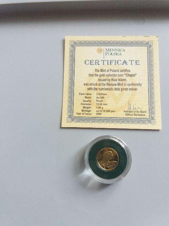 Moneta kolekcjonerska 2 dollars Niue Island 2009r.