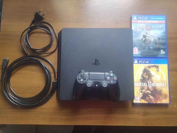 PS4 slim 1TB + 2 игры