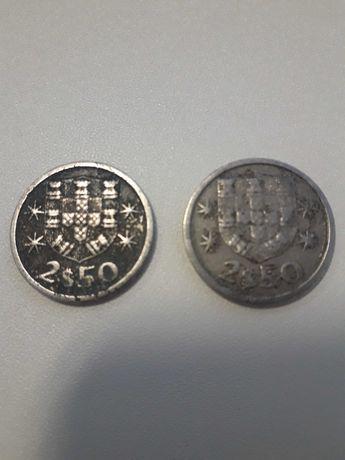 Moedas 2,50 escudos de 1966