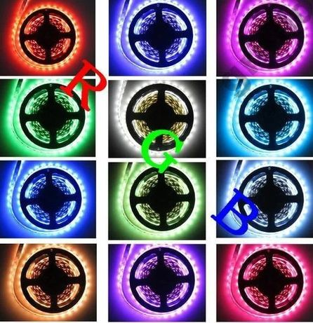 Светодиодная лента подсветка RGB 3528 Б/П,контроллер,пульт Комплект