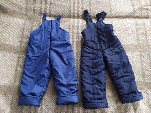 Зимові балонові теплі штани комбінезон