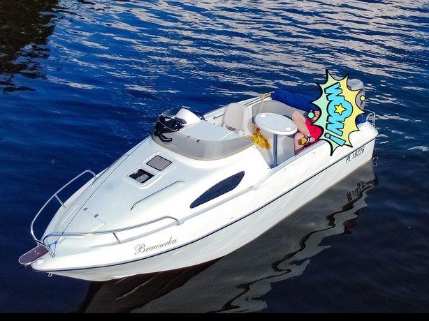 Motorówka łódź motorowa kabinowa z osprzętem i przyczepą (bez silnika)
