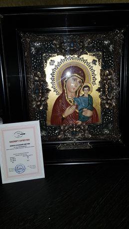 Икона Пресвятой Богородицы Казанской с сусальным  золотом
