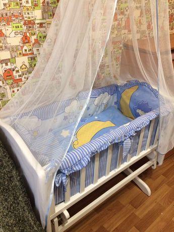 Детская кроватка люлька Troll