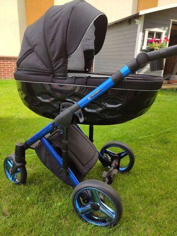 Wózek 2w1 Adamex Chantal czarno-niebieski