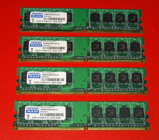 Pamięć RAM DDR2 512MB PC-6400 4 sztuki
