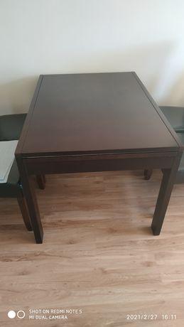 Stół z litego drewna oraz 6 krzeseł