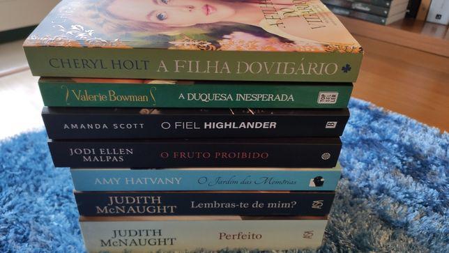 Livros como novos cada 12€ (Judith McNaught,Cheryl Holt, entre outros)