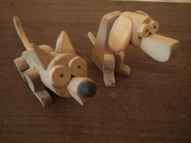 """Игрушки деревянные Волк и Пес из м\ф-""""Ну ты это, заходи, если че"""""""
