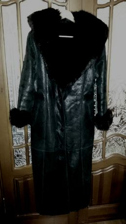 Дубленка женская DERMA Collection–Италия.Черная, размер L