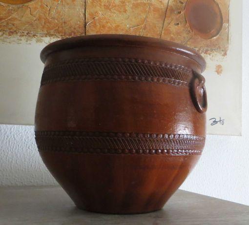 Vaso Grande Plantas, Forma  e pote antigo, barro, castanho