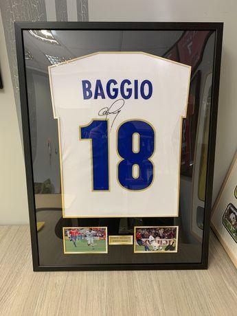 Koszulka Roberto Baggio podpis autograf Juventus Inter Milan prezent