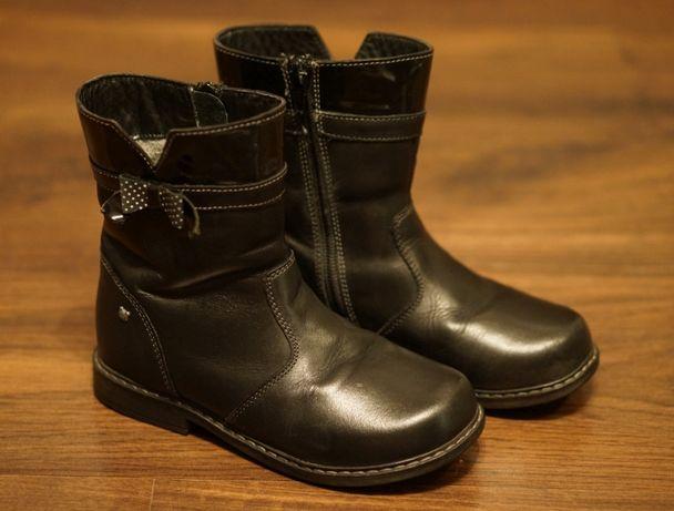 Czarne ocieplane buty zimowe kozaczki Lasocki skóra naturalna rozm. 30