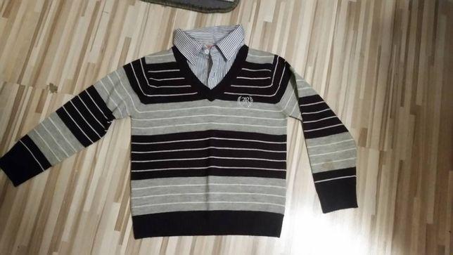 elegancka bluza/koszula/sweter 116 cm, stan bardzo dobry