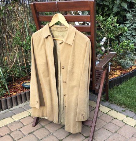 Płaszcz płaszczyk zamszowy L