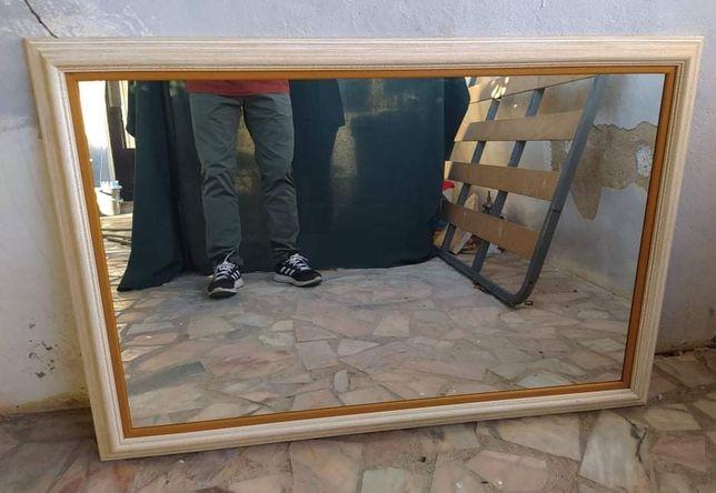 Espelho moldura branca