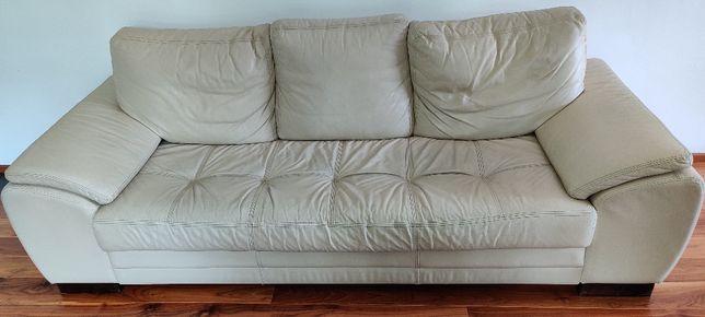 Skórzana kanapa 3 osobowa