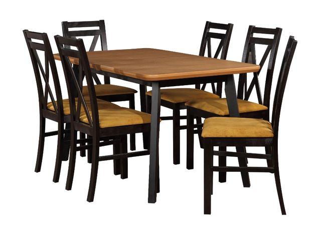 rozkładany stół i krzesła do salonu,kuchni 140cm/180cm dąb wotan