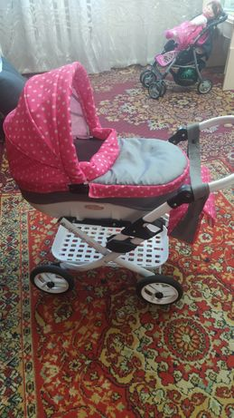 Большая качественная игрушка польская коляска Lily для кукол