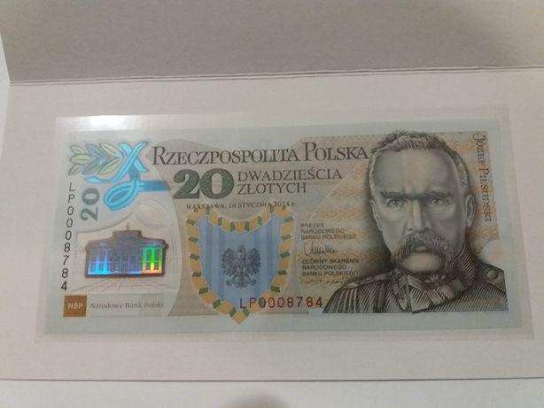 banknot kolekcjonersi 20 zł 100 rocznica Utworzenia Legionów