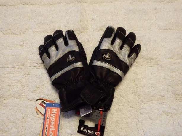 Rękawiczki damskie skórzane zimowe na narty NOWE