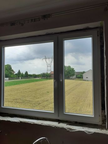 Używane okna  2szt oraz drzwi balkonowe