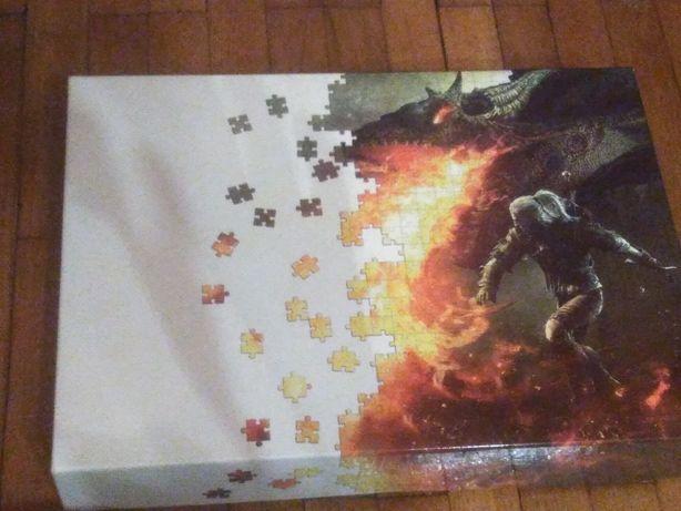 Wiedźmin puzzle Geralt i smok stan idealny 1500 elementów