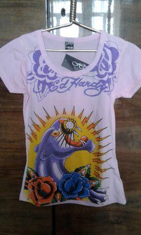 Новая футболка для стройной девочки на рост до 150. См. замеры.