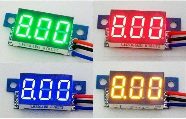 Цифровой вольтметр 0-100VDC